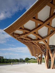The roof of Shigeru Ban's Centre Pompidou-Metz in France was inspired by a Chinese hat the architect owns placed atop a wood lattice.