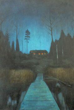 Swedish house at the lake and more paintings from Thijmen van Kooy on SOYZ-blog