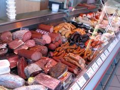 german butcher shop...this is how we get our meat...fresh