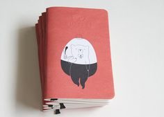 Mr Bear Pocket Notebook Handmade By Mossery by MosseryCo on Etsy, $6.00