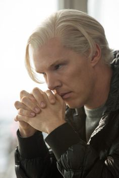 Benedict Cumberbatch has blonde hair while playing Julian Assange in The Fifth Estate. - Benedict Cumberbatch's Life In Pictures