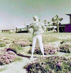 A very rare photo of Marilyn in Puerto Peñasco, Mexico on a trip with Joe DiMaggio ~ 1953