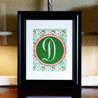 Lily Pulitzer-Inspired Spring Monograms