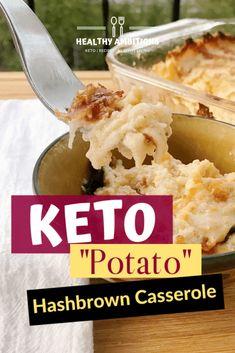 "Keto ""Potato"" Hashbrown Casserole Potato hash brown casserole or Potato Stuff as we would call it has been a Thanksg. Ketogenic Recipes, Low Carb Recipes, Ketogenic Diet, Cooking Recipes, Paleo Recipes, Cooking Tips, Hashbrown Casserole, Hashbrown Waffles, Keto Casserole"