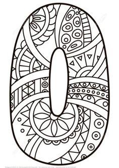 Número 0 Zentangle Dibujo para colorear. Categorías: Números Zentangle. Páginas para imprimir y colorear gratis de una gran variedad de temas, que puedes imprimir y colorear.