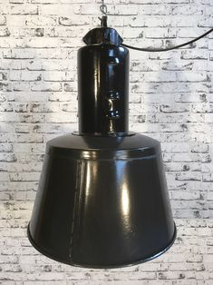 Black Enamel Factory Lamp Industrial Lamps, Black Enamel, Decorative Bells, Home Decor, Black Polish, Decoration Home, Room Decor, Interior Decorating