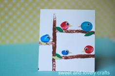 bird crafts for kids | red bird. blue bird
