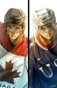 I love the fact that in this picture Canada looks so intense. Although America looks that way as well. But Canada though... X3