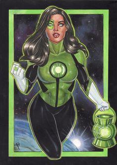 Green Lantern Jessica Cruz - Art by Fabiano Oliveira