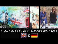 London Collage in Acryl Tutorial- german & englisch Deutsch& Englisch by zAcheR-fineT