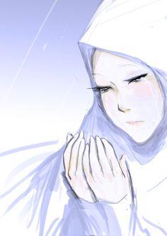 Crying Muslimah in Dua Cute Cartoon, Cartoon Art, Hijab Drawing, Islamic Cartoon, Anime Muslim, Hijab Cartoon, Cartoon Sketches, Drawing Artist, Islamic Art