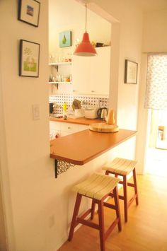 Very Simple & Cute!... Small Apartments - Meinhilde's After Living Room; pass-through to kitchen