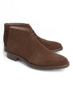 74d51b8aa4fc Brown Suede Chukka Boots - Brooks Brothers Mens Shoes Boots