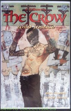 The Crow : Wild Justice (1996) 3-issue set by Kitchen Sink Comics  Cover by John Mueller       3-Issue Set         #CharlieAdlard #TheCrow #Tattoos #DayoftheDead #OpenBazaar #Artwork #90s