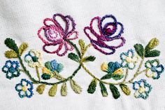 Hungarian Embroidery Patterns Image of Faraway Garden Hot-Iron Transfer Embroidery Pattern - *** Spring Sale now through Monday, April off everything in the shop! Use discount code SPRINGFLOWERS at checkout. *** The sweet and. Garden Embroidery, Chain Stitch Embroidery, Learn Embroidery, Hand Embroidery Stitches, Crewel Embroidery, Vintage Embroidery, Embroidery Techniques, Machine Embroidery, Embroidery Designs