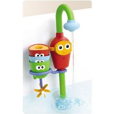 Favorite Bath Toy Ever of All Time. Water running all the time without wasting water. $27 from amazon