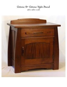 greene and greene night stand | Greene & Greene Night Stand