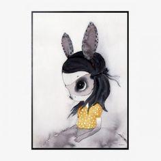 Ilustración en acuarela Miss Lola | 50 x 70