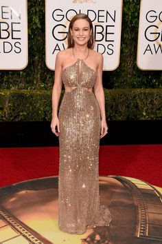 Girl of the moment Brie Larson shines in cut-out Calvin Klein.