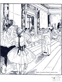 Famous Artists Coloring Pages: Degas and others Dance Coloring Pages, Free Coloring Pages, Coloring Books, Printable Coloring, Coloring Sheets, Edgar Degas, Art Handouts, Art Worksheets, Famous Artwork