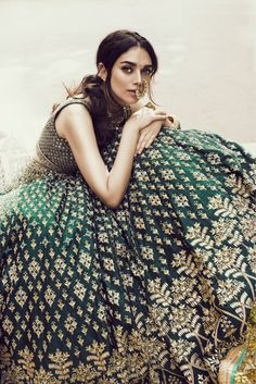 Anita Dongre is amongst the most talked about Bridal Wear Designers.These Bridal Lehengas from Anita Dongre will leave you awestruck. Indian Bridal Wear, Indian Wedding Outfits, Bridal Outfits, Indian Outfits, Bridal Dresses, Eid Outfits, Eid Dresses, Indian Bridal Lehenga, Lehenga Designs