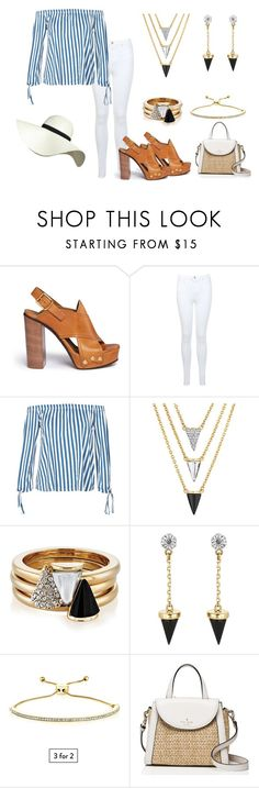 """Spring Stripes"" by buckleylondon on Polyvore featuring Chloé, Miss Selfridge, Boohoo, Brixton, Kate Spade and Pilot"