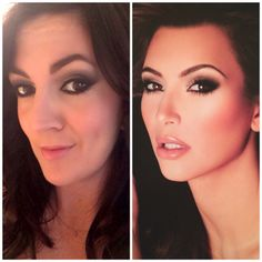 "My best Kim Kardashian copycat makeup look using Urban Decay Naked 2 palette, Urban Decay 24/7 eyeliner in ""zero,"" Ardell strip lashes in #110,  Nars ""orgasm"" blush, and L'Oreal Infallible gloss in ""sunset."" #kimkardashian #makeup #smokeyeyes http://www.jennysuemakeup.com/2014/01/10-clever-makeup-tricks-to-try-now.html"