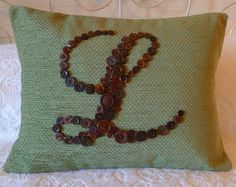 Pillow Monogrammed with Buttons