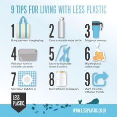Protect and Save Our Wildlife/Environment with these  Simple, Do-able tips for living with less plastic