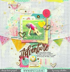 Hip Kit Club DT Project - by Missy Whidden - 2015 August Hip Kits - Pinkfresh Studio, American Crafts, A Flair For Buttons, Crate Paper, Freckled Fawn
