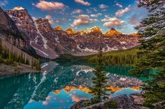Valley of the ten peaks in Banff National Park, Alberta, Canada in morning light (by Cole Chase Photography.)