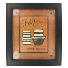 Fold Next Week Framed Art | Shop Hobby Lobby