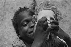 Eugene Richards, doll's head, Hughes, Arkansas 1970
