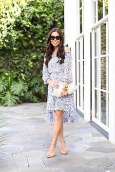 Off the Shoulder Dress - DVF dress // Bangles Stuart Weitzman heels // Celine sunglasses Monday, March 30, 2015