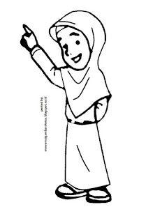 Mewarnai Anak Mengaji : mewarnai, mengaji, Mewarnai, Gambar:, Gambar, Kartun, Mengaji, Kartun,