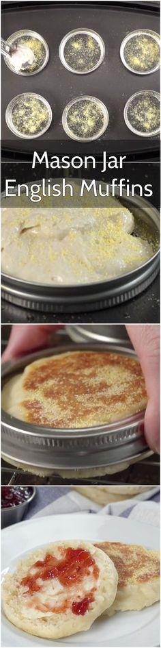 It's So Easy to make homemade English Muffins using Mason Jar Lids.