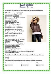 English Worksheets: Past Simple - song
