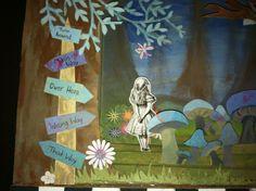 Alice in Wonderland diorama - zoomed in on Alice!