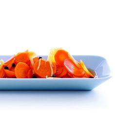Inkiväärimarinoidut porkkanat Dressing, Cantaloupe, Side Dishes, Fruit, Food, Mushroom, Marmalade, Essen, Meals