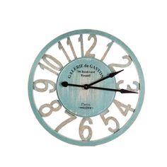 Wooden Teal Clock.  Interior Designs on line