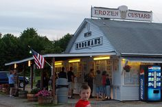 Hodgman's Frozen Custard in New Gloucester, Maine <3