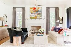 I like the simple mantle -AR // Inside the Bold Charleston Home of an Interior Designer via @MyDomaine