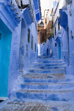 "The ""Blue City"", Chefchaouen, Morocco.  Photo by Tracie Travels"