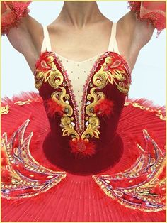 Stage ballet costume   Firebird for adults F 0060