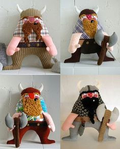 Handmade Viking dolls. They're just so ... ... ... cuddly.