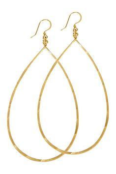 14K Gold Plated Sterling Silver Teardrop Earrings