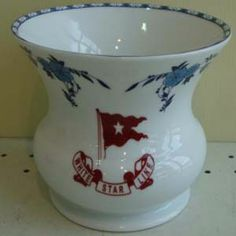 """This 6"""" foral vase is an artifact replica of the vase that was recovered from the RMS Titanic which was used in the 2nd Class cabins. #SecondClass #Titanic"""