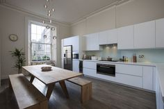 Cool kitchen design from Nine Nelson - An Historic Georgian apartment in Edinburgh, Scotland.
