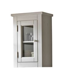 Dulap baie suspendat cu vitrina, 1 usa, Romantic #homedecor #interiordesign #bathroom #furniture