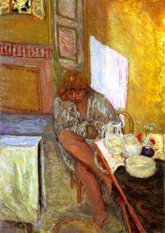 Woman in a Dressing Gown Pierre Bonnard - 1914
